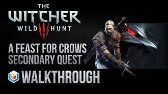 The Witcher 3 Wild Hunt Walkthrough A Feast for Crows Secondary Quest Guide Gameplay Let's Play