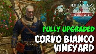 Witcher 3 Blood and Wine - Fully Upgraded CORVO BIANCO Vineyard Tour - Geralt's Home