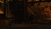 Geralt cries over medallion