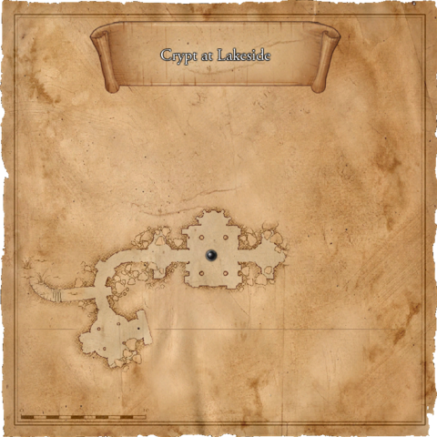 Map of the crypt at the Lakeside