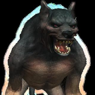 Vincent Meis w postaci wilkołaka