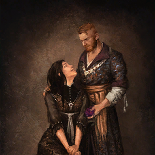 Painting of Iris and Olgierd