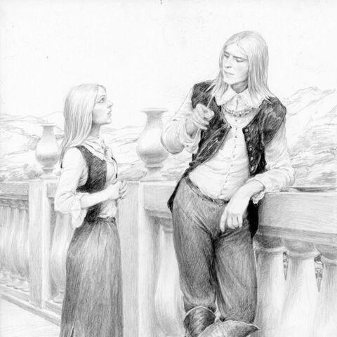 Auberon meets Ciri in Tir ná Lia