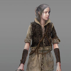 Near final concept art for child Ciri in <i>The Witcher 3</i>