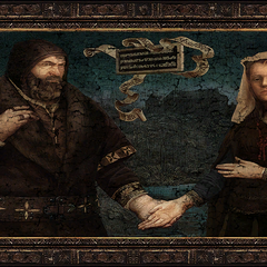 Painting of the Baron and Anna