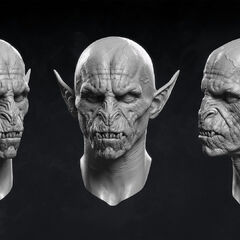 Digital model of vampiric face