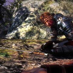 Saskia wounded by <a href=