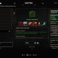 Redesigned Crafting panel