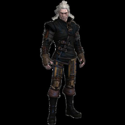 File:Tw2 Geralt in Raven armor.png