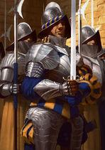 Gwent cardart northern cintrian royal guard