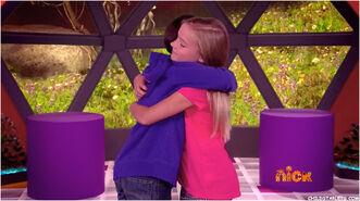Twin hug