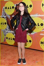 Julia-Antonelli-On-The-Orange-Carpet-At-2015-Nickelodeon-HALO-Awards-At-Pier-36-New-York-Nick-WITs-Academy