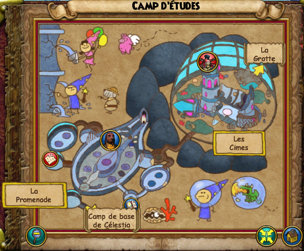 Map camp d'étude