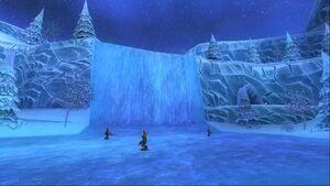 Rivière des larmes de glaces