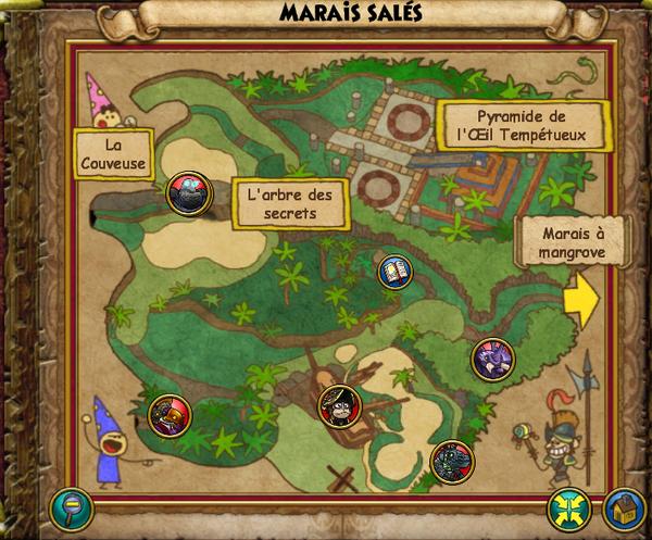 Map marais salés