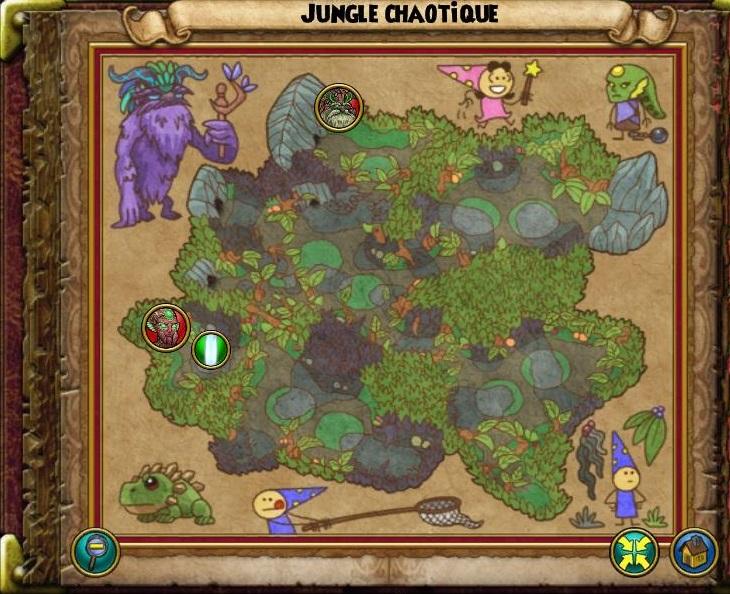 Jungle chaotique carte
