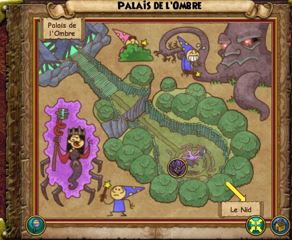 Map palais de l'ombre