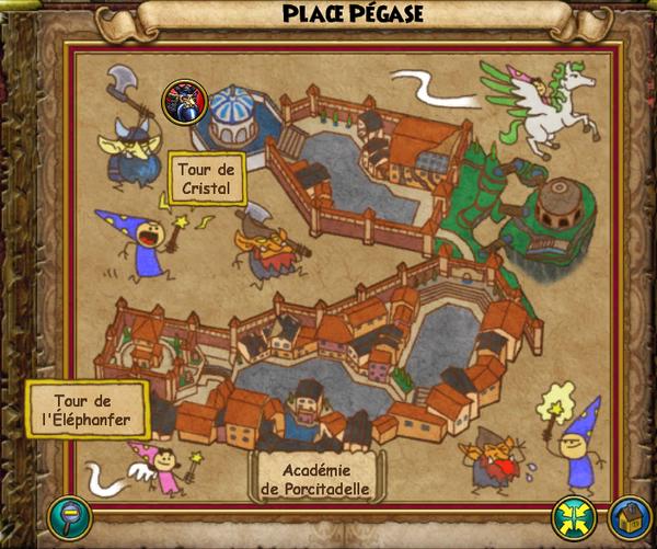Map place pégase