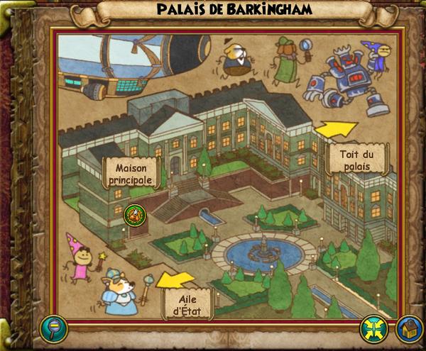 Map palais de barkingham