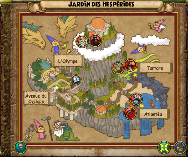 Map jardin des hespérides