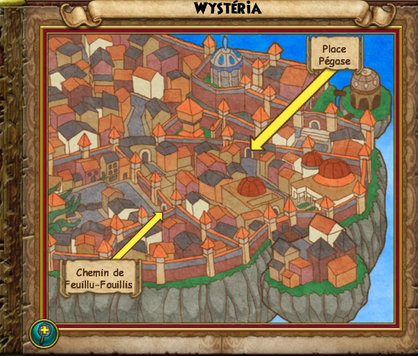 Map wystéria