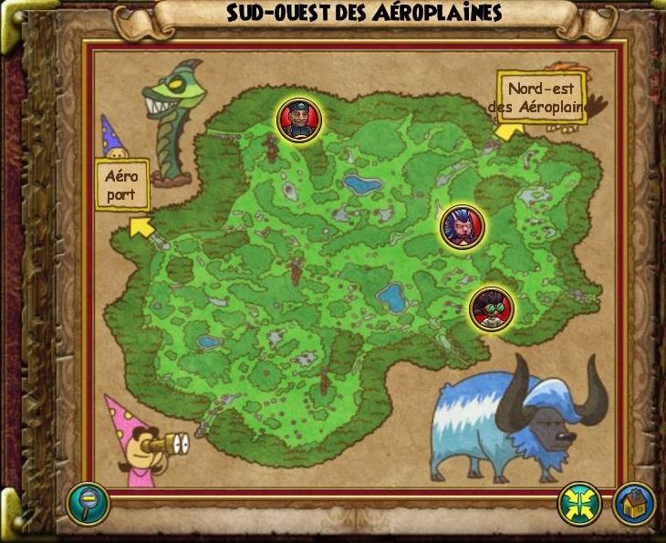 Sud-Ouest des Aéroplaines carte