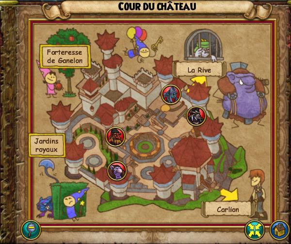 Map cour du château