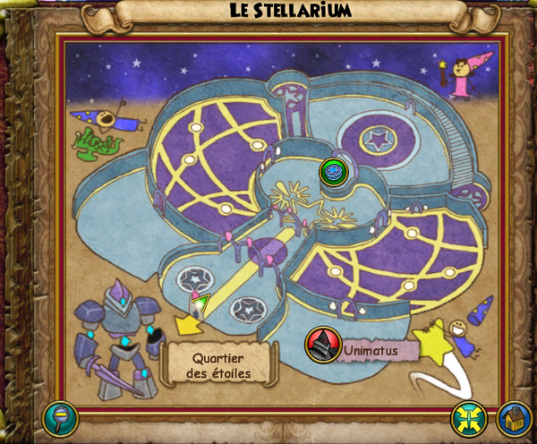 Map le stellarium