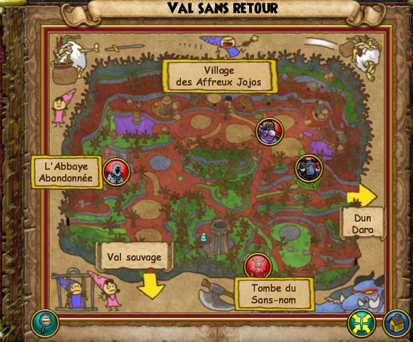 Map val sans retour