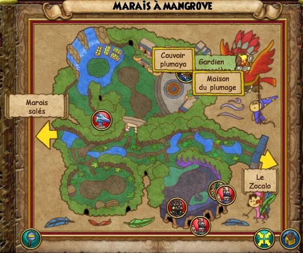 Map marais à mangrove