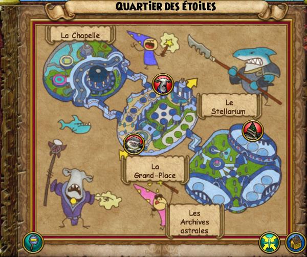 Map quartier des étoiles