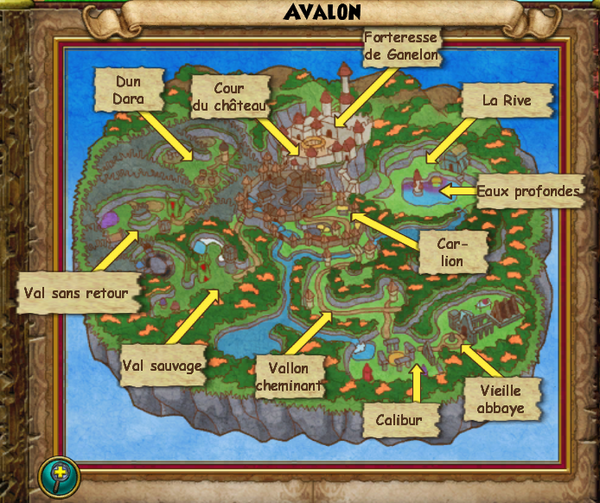 Map avalon