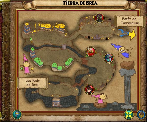 Map tierra de brea