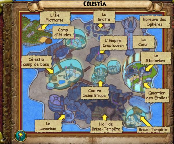 Map celestia