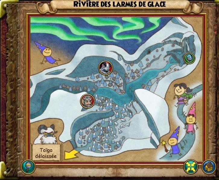 Rivière des larmes de glace