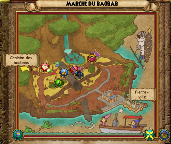 Map marché du baobab