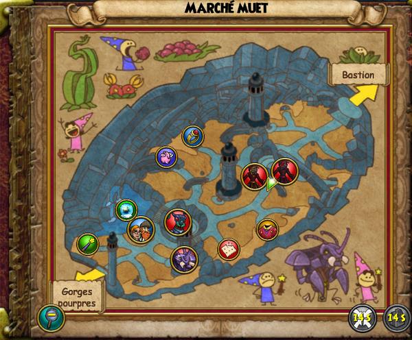 Map marché muet