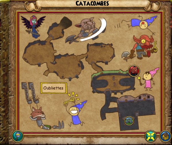 Map catacombes