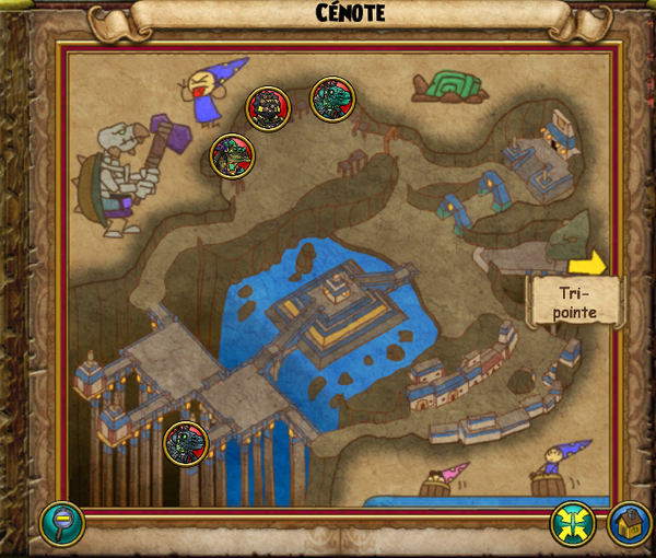 Map cénote