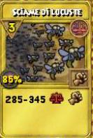 Sciame di locuste oro
