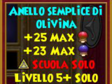 Anello semplice di olivina
