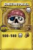 Scheletro pirata oro