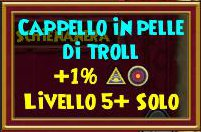 Cappello in pelle di troll stat
