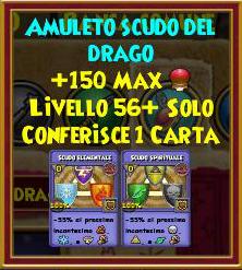 Amuleto scudo del drago stat