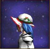 Cappello da babbo natale lato (femminile)