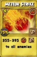 Meteor Strike Treasure Card