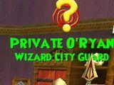 Private O'Ryan