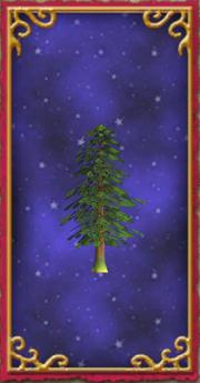 House - Large Evergreen Tree