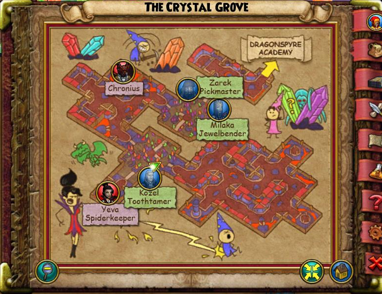 The Crystal Grove Map