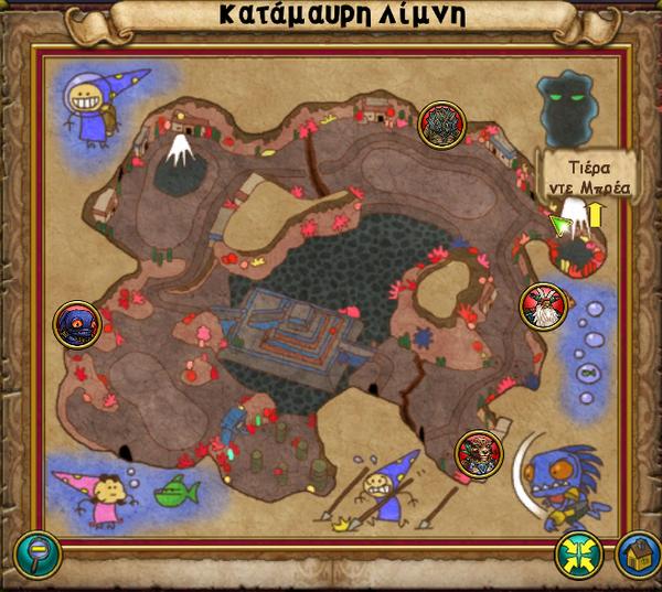 Χάρτης Κατάμαυρη Λίμνη